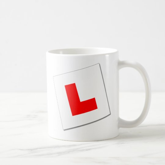 L Plates (red/white) Coffee Mug