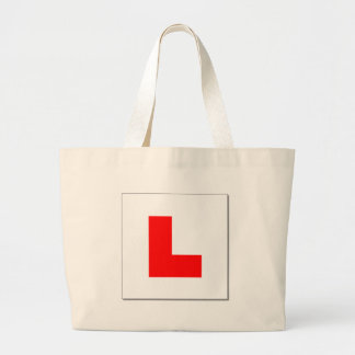 L Plates (red/white) Large Tote Bag