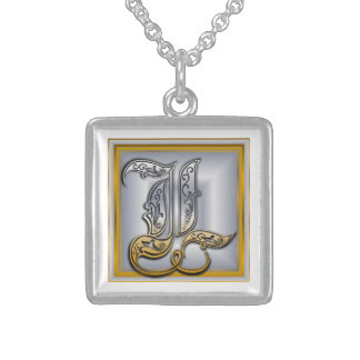 L Royal Initial Monogram Necklace Necklaces