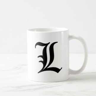 L-text Old English Coffee Mug