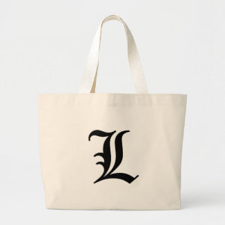 L-text Old English Large Tote Bag