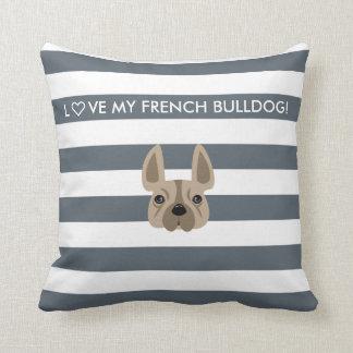 L♡VE MY FRENCH BULLDOG! DECORATIVE PILLOW