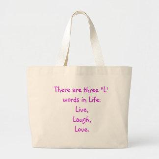 """L"" Words Tote Bag"