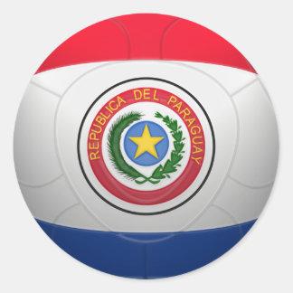 La Albirroja - Paraguay Football Classic Round Sticker