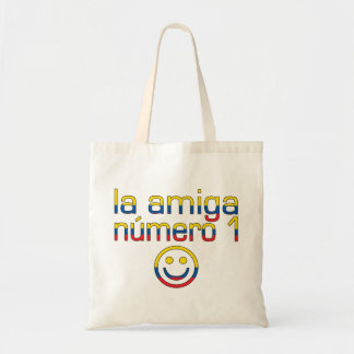 La Amiga Número 1 Ecuadorian Flag Colors 4 Girls Canvas Bags