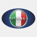 La Bandiera - The Italian Flag Oval Sticker