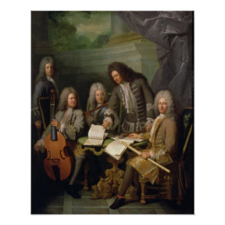 La Barre and Other Musicians, c.1710 Poster