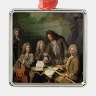 La Barre and Other Musicians, c.1710 Silver-Colored Square Decoration