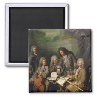 La Barre and Other Musicians, c.1710 Square Magnet