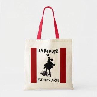 ''La Beaute est dans la Rue'' Budget Tote Bag