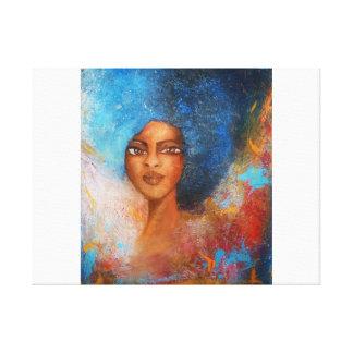 La beauté stretched canvas print