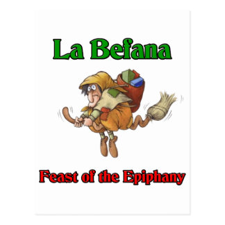 La Befana (Christmas Witch) Feast of the Epiphany. Postcard