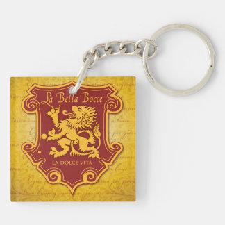 La Bella Bocce double sided keychain