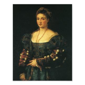 La Bella, Duchess of Urbino by Titian 11 Cm X 14 Cm Invitation Card
