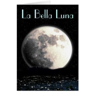 La Bella Luna greeting card