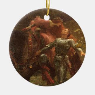 La Belle Dame sans Merci by Sir Frank Dicksee Christmas Ornament