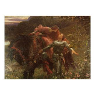 La Belle Dame sans Merci by Sir Frank Dicksee Poster