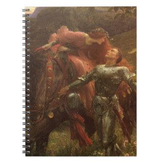 La Belle Dame sans Merci by Sir Frank Dicksee Spiral Notebooks