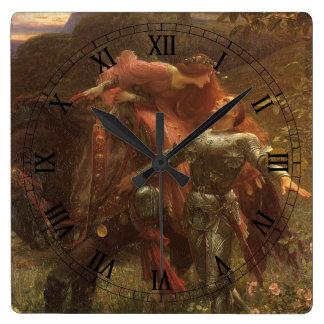 La Belle Dame sans Merci by Sir Frank Dicksee Square Wall Clock