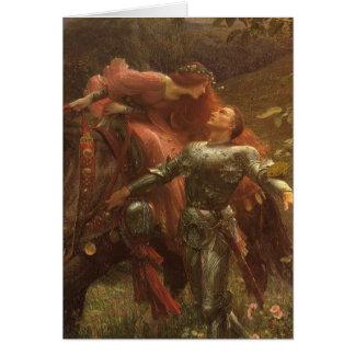 La Belle Dame sans Merci, Dicksee, Victorian Art Greeting Card