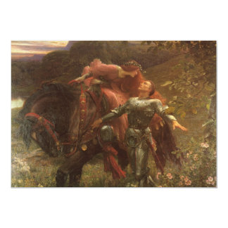 La Belle Dame sans Merci, Dicksee, Victorian Art Cards
