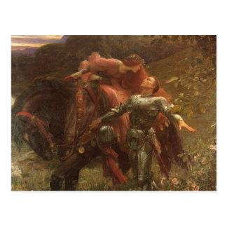 La Belle Dame sans Merci, Dicksee, Victorian Art Post Card
