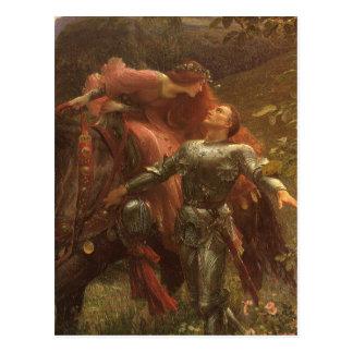 La Belle Dame sans Merci Dicksee Victorian Art Post Card
