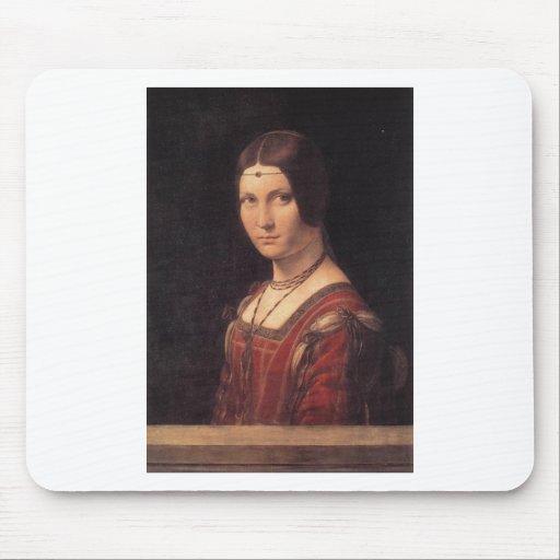 La Belle Ferronniere by Leonardo Da Vinci Mouse Pads