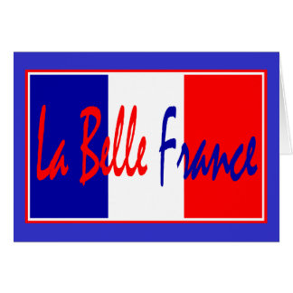 La Belle France Pain Vin Fromage French Chef Card