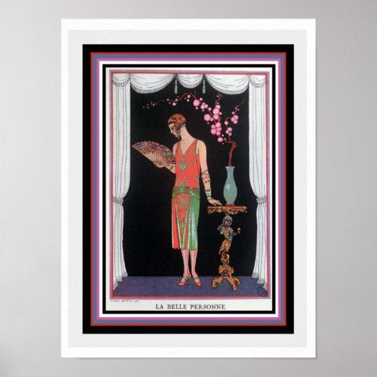 """""""La Belle Personne"""" Deco Print by Barbier 12"""