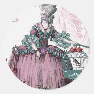la cage aux oiseaux (The Birdcage) Round Sticker