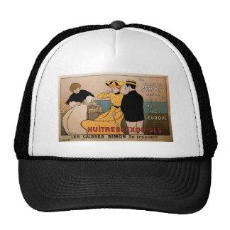 La Caisse Simon Vintage Food Ad Art Hats