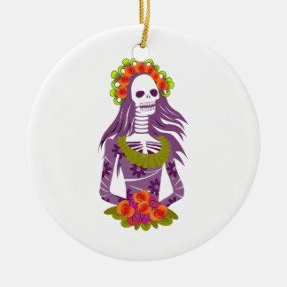 La Calavera Catrina/Dapper Skeleton/'Elegant Skull Christmas Ornament