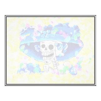 La Calavera Catrina - Laughing Skeleton Woman 21.5 Cm X 28 Cm Flyer