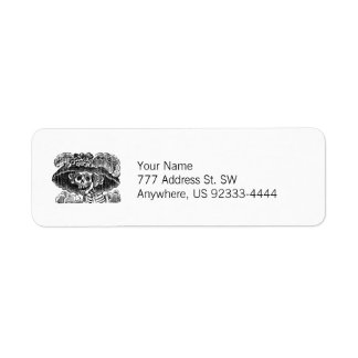 La Calavera Catrina Return Address Label