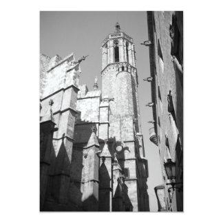 "La Catedral Gargoyle Invitation (Barcelona, Spain) 5"" X 7"" Invitation Card"