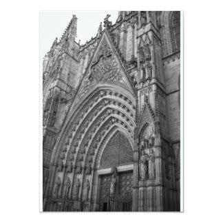 """La Catedral Invitation (Barcelona, Spain) 5"""" X 7"""" Invitation Card"""
