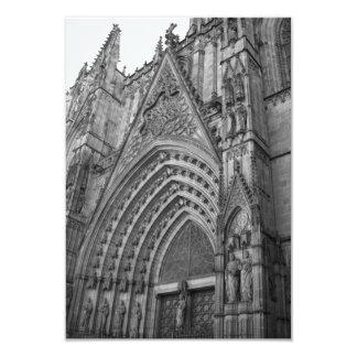 """La Catedral Invite (Barcelona, Spain) 3.5"""" X 5"""" Invitation Card"""