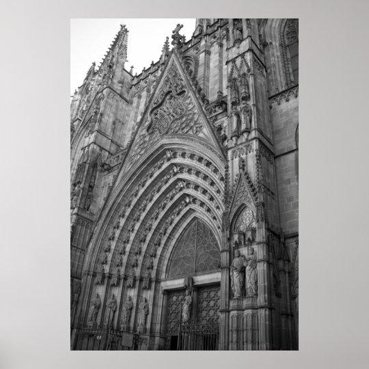 La Catedral Poster Print (Barcelona, Spain)