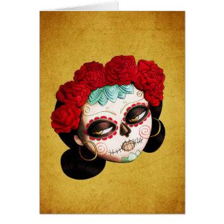 La Catrina - Dia de Los Muertos Girl Greeting Card