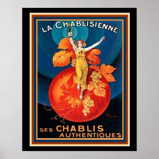 La Chablisienne Art Deco Poster 16 x 20