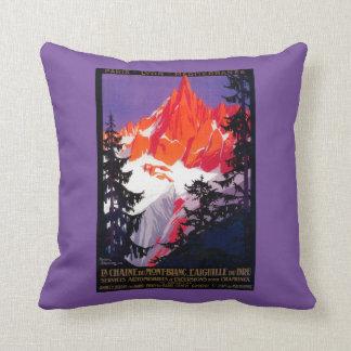 La Chaine De Mont-Blanc Vintage PosterEurope Cushion