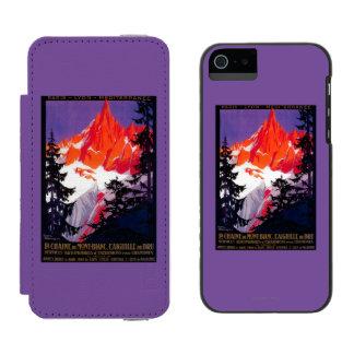 La Chaine De Mont-Blanc Vintage PosterEurope Incipio Watson™ iPhone 5 Wallet Case