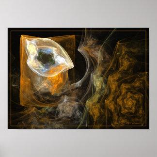 La Chambre à coucher - fractal art Poster