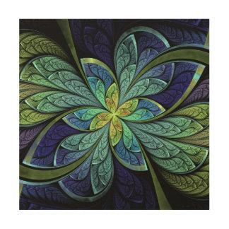 La Chanteuse IV Wood Canvas Print 12 x 12