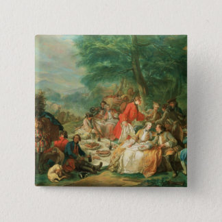 La Chasse, 18th century 15 Cm Square Badge