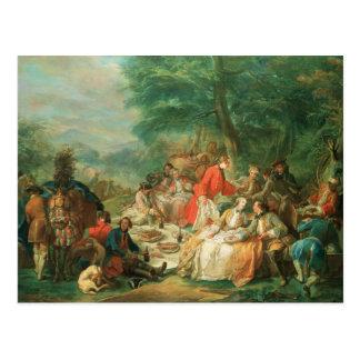 La Chasse, 18th century Postcard