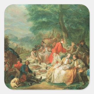 La Chasse, 18th century Square Sticker