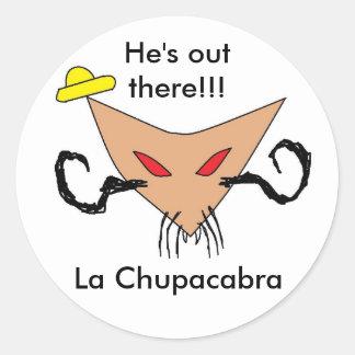 La Chupacabra Round Sticker