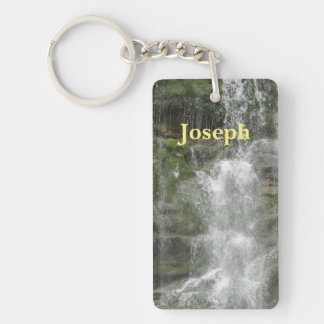La Chute Waterfall in Forillon National Park Key Ring